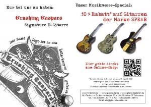 Musikmesse Flyer back Frankfurt 2013