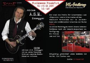 Musikmesse Flyer front Frankfurt 2013