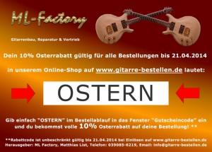 Osterrabatt-Gitarrenshop
