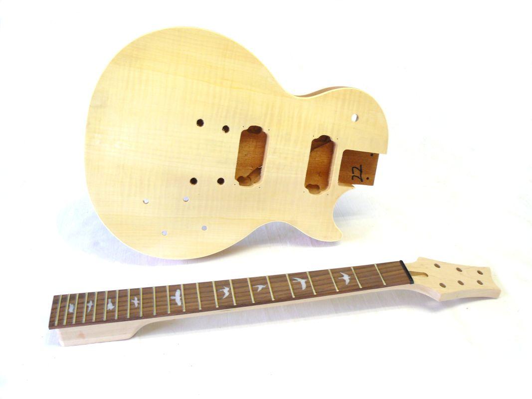 E-Gitarren-Bausatz Guitar Kit MLP Hybrid II mit Bird Inlays