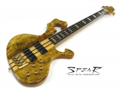 E-Bass SPEAR S-1 SP Spalted Maple Top