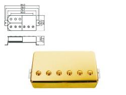Humbucker Bridge-Position gold