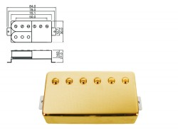 Humbucker Hals-Position gold