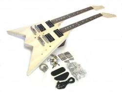 E-Gitarren-Bausatz ML V Doppelhals 12 u. 6 saitig