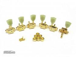 Gitarren-Mechaniken Wilkinson 3li/3re WJ-44 gold Vintage Tulip