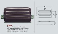 VIVA HB 04 Double Twin Blade High Power Humbucker schwarz