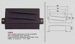 VIVA HB 02 Twin Blade Humbucker schwarz
