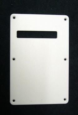 Tremolo-Abdeckung / Back Plate I 1-lagig weiß, durchgehend