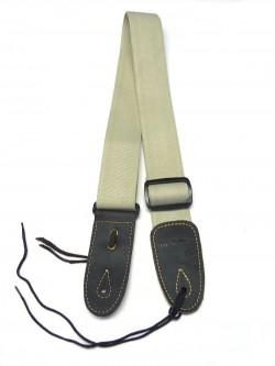 Gitarrengurt ML-Factory Cotton/Baumwolle Extra lang graugrün