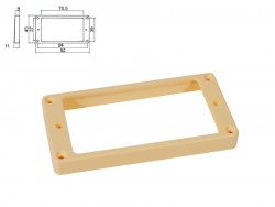 Humbucker-Rahmen in creme hoch / für gerade Decke