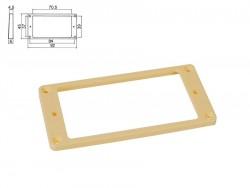 Humbucker-Rahmen in creme flach/ für gewölbte Decke