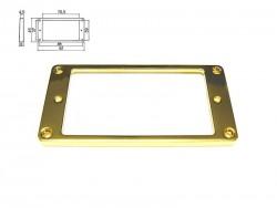 Humbucker-Rahmen in gold (Kunststoff) flach/ für gewölbte Decke