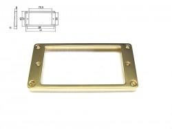 Humbucker-Rahmen in gold (Kunststoff) hoch/ für gewölbte Decke