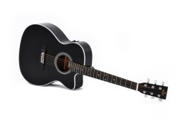 Western-Gitarre Sigma 000MC-1STE-BK