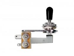 abgewinkelter Toggle Switch / 3 - Wege Schalter offen chrome