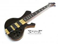 5-Saiter E-Bass SPEAR S-2E 5St Ebenholz Top