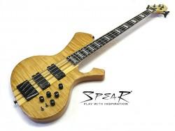 E-Bass SPEAR S-2 4 ST Hochglanz Natur