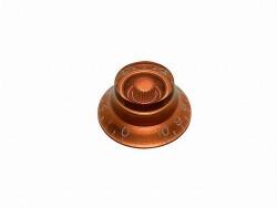 Potiknopf / Bell Knob transparent amber