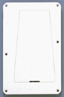 Allparts Tremolo-Abdeckung / Back Plate 1-lagig weiß mit Klappe