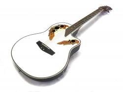 Roundback-Gitarre  ML-Factory MLO-C 1 White mit Tonabnehmer