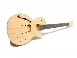 E-Gitarren-Bausatz MLP Flat Mahagoni Top Hollowbody