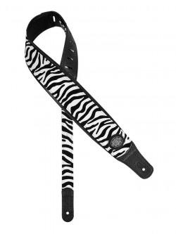 Gitarrengurt Gaucho GST-340-ZE Leder im Zebra Design