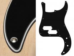 Pickguard Bass PB 3-lagig schwarz