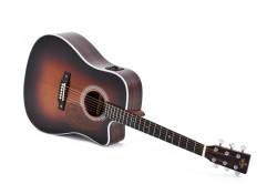 Western-Gitarre Sigma DTC-1STE-SB Sunburst