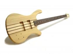 aktiver 4-Saiter E-Bass-Bausatz Through Neck, Esche Body