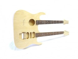 E-Gitarren/Akustik- Gitarren Bausatz Double Neck Tree of Life Inlays