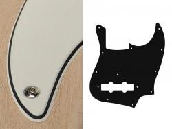 Bass Pickguard Standard 10-Loch 3-lagig Vintage White