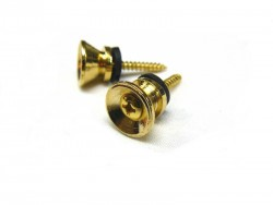 Gurtpins / Strap Lock V-Form in gold 1 Paar