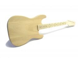 E-Gitarren-Bausatz Style I ohne Fräsungen Esche/Ahorn ohne Hardware