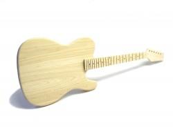 E-Gitarren-Bausatz Style II ohne Fräsungen Esche/Ahorn ohne Hardware