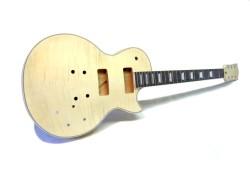 E-Gitarren-Bausatz MLP P90 Flame Top Standard Mahagoni