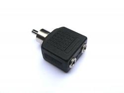 Adapter 2 x Mini Klinken Buchse 3,5mm auf 1 x Cinch Stecker