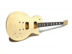 E-Gitarren-Bausatz MLP Quilt Top Standard Mahagoni, geleimter Hals