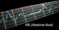 Jockomo Fretboard / Griffbrett Inlays, Decals EKG Line Abalone