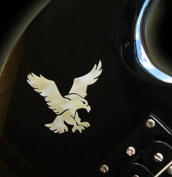 Jockomo Inlay Sticker /  Headstock oder Body Decal S-Garcias Eagle
