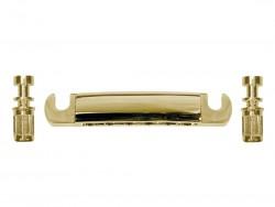 Alu Stop Tailpiece / Saitenhalter gold