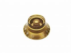 Potiknopf / Bell Knob transparent gold