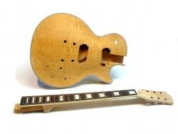E-Gitarren-Bausatz MLP Quilted Maple Top Custom Mahagoni ohne Hardware
