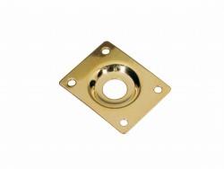 Buchsenplatte/Jackplate rechteck gold