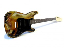 E-Gitarren-Bausatz/Guitar Kit Style I aged Sunburst P