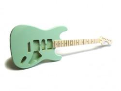 E-Gitarren-Bausatz MLS Surf Green, Linde/Ahorn ohne Hardware