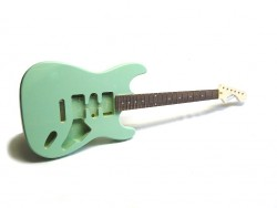 E-Gitarren-Bausatz MLS Surf Green, Linde/Palisander ohne Hardware