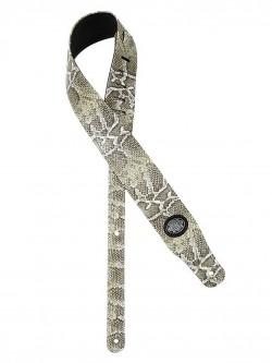 Gitarrengurt/Guitar-Strap Gaucho GST-205-WH Cobra Snake Skin white