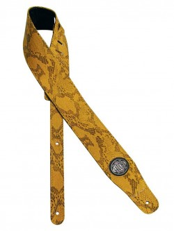 Gitarrengurt/Guitar-Strap Gaucho GST-205-YE Cobra Snake Skin yellow