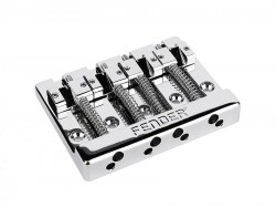 Fender® Bass Bridge 4-Saiter Chrom, 19mm Saitenabstand