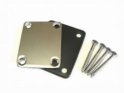Halsplatte / Neckplate mit Kunststoffauflage chrom